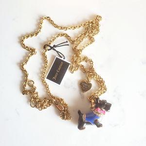 Juicy Couture Black Scottie Dog Long Necklace